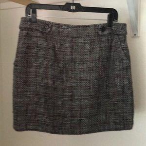 Gray wool like Loft skirt